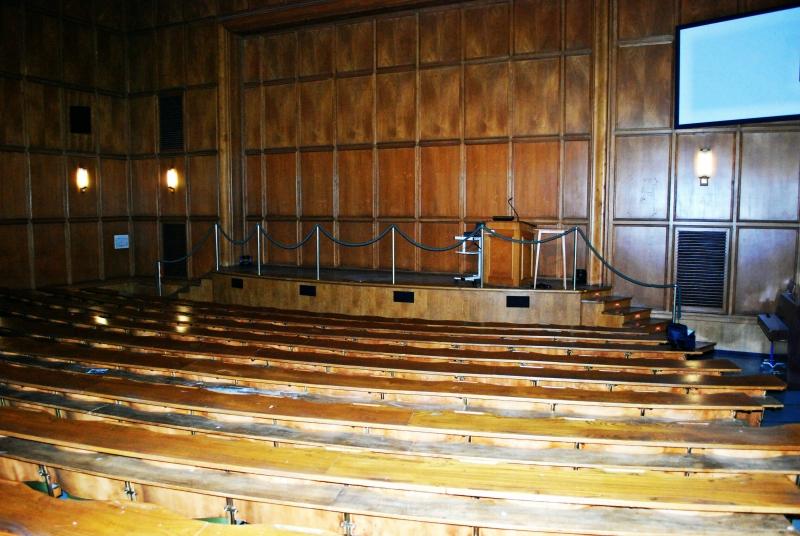 Der Hörsaal vor der Veranstaltung